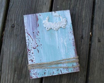Reclaimed Barnwood Picture Frame, Shabby Cottage Barn Wood Block Frame, Farmhouse Decor, Distressed Barnwood, Recycled Art