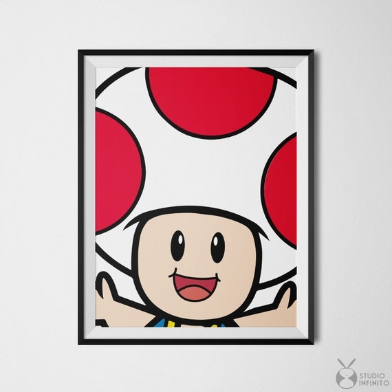 super mario friends toad toad poster super mario toad mario mushroom super mario poster super mario bros super mario print nintendo - Super Mario Pictures To Print