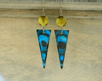 STALACTITES / Wood Earrings / Acrylic Painting / Women's Jewelry / Art / Sustainable / Gifts for Her / Organic Jewelry / Earrings
