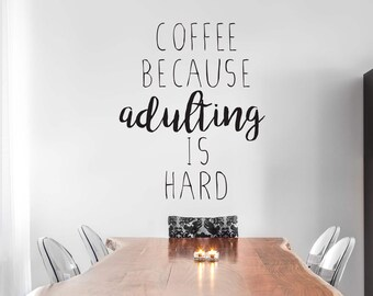 Coffee Wall Decal Etsy - Custom vinyl wall decals coffee