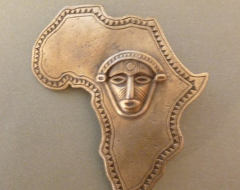 Africa with Tribal Mask - Magnet