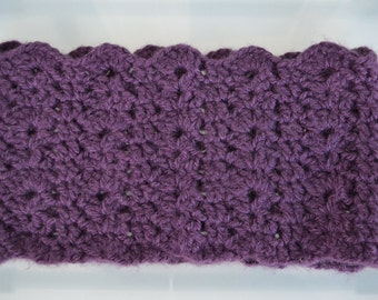 soft, purple cowl, lacy cowl, chunky cowl, FREE SHIPPING