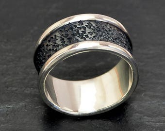 Silver Mens Ring, Sterling Silver Ring, Mens Gift, Band Ring for Men, Unique Mens Ring, Mens Band, Ring for Him, Mens Jewelry