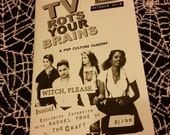 TV Rots Your Brains fanzine #2 WITCH, PLEASE feat interview w Rachel True from The Craft zine zines indie witches gothic free pin & poster