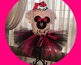 Minnie Mouse First Birthday, Minnie Mouse 1st Birthday, Minnie Mouse First Birthday Tutu Outfit, Minnie MouseTutu