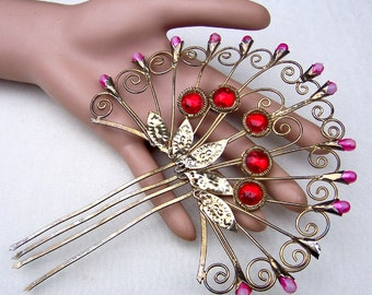 Vintage Hair Pick Indonesia Bali hair pin hair comb hair accessory hair jewelry hair ornament headdress decorative comb (AAN)