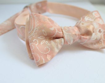 Reverse Paisley and Silk Bow Tie