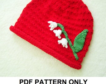 Knitting Pattern - Hat Pattern - the JOANIE beanie (Newborn, Baby, Toddler, Child & Adult sizes incl'd)