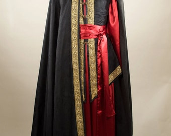 Made to order  Veldür kit elven lord fantasy mage robe and cloak, custom made