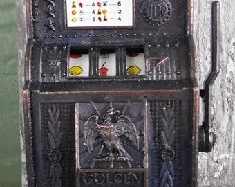 Vintage Die Cast Miniature Slot Machine Pencil Sharpener