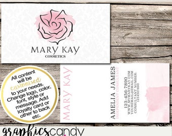 Mary Kay Independent Consultant Business Card Design - Business Cards - Multi Level Marketing - MLM - DIGITAL DOWNLOAD!
