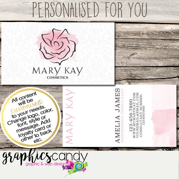 Mary kay independent consultant business card design business il570xn colourmoves