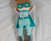 Superhero Doll Playset light brown hair light skin girl