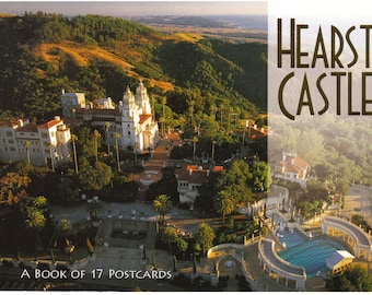 HEARST CASTLE Postcard Book - Unused - 17 Post Cards - Exquisite Photography - Great for Scrapbooking, Collages, Mixed Media Design