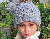 Messy Bun Hat Crochet Pattern, Chunky Bun Hat, Crochet Pattern, Ponytail Hat Crochet Pattern, Christmas Gift, Crochet Bun Hat Pattern, Hat