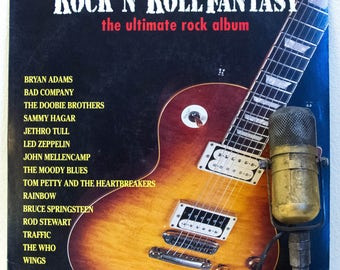 """ON SALE Classic Rock Heaven Vinyl Record Album LP 1970s Led Zeppelin/Bruce Springsteen/The Who/and more """"Rock 'N' Roll Fantasy"""" (1992 Columb"""