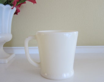 Fire King Ware Ivory Mug Flat Bottom