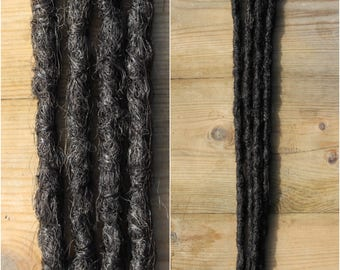 Brown Clip in Crochet Synthetic Dreads