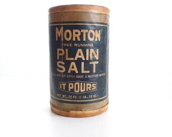 Morton Salt 1914 Commemorative Container, Cardboard