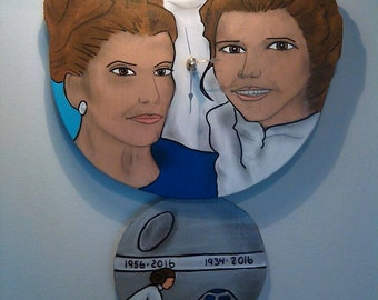 She'll always be royalty Carrie Fisher/Princess Leia Tribute Clock