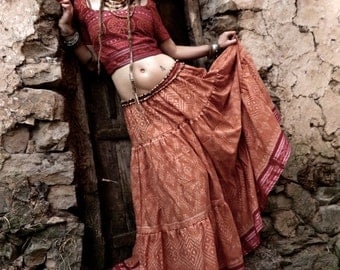 Gypsy Spirit Outfit made of traditional Tribal Sari  ONLY 4 available !