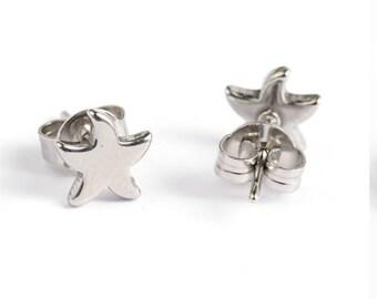 Starfish Stud Earrings Stainless Steel Setting As Seen On Jane.com