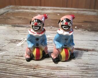 Clown Salt and Pepper Shakers