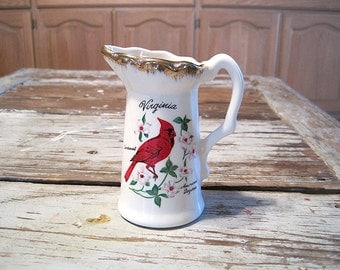 Virginia Souvenir Creamer Hosted by Tidewater Jim Beam Bottle Club 1985 4th District 8 Convention