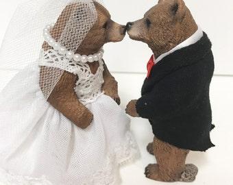 Bear Wedding Cake Topper Mr And Mrs Love Animal