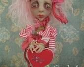 Gertie Valentines Creepy Mini Lu Art Doll OOAK LuLusApple