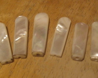 Mother of Pearl Utensil Handles, 6 Mother of Pearl Handles