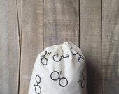 Harry Potter inspired 10 x 12 Project Bag - Harry Potter Fans - Knitting Bag - Crochet Bag - Yarn Bag - Sock Knitting - Valentine's Day Gift
