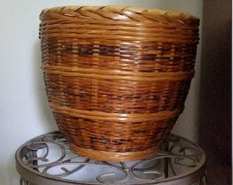 Woven Boho Basket Planter
