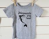 Mermaids are Real Toddler Tee Shirt. Mermaid. Free Shipping! Toddler T-Shirt. Cotton Tshirt. Mermaid Tail. Little Mermaid. Mermaid Life.