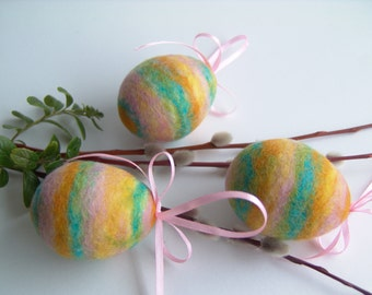 Easter Eggs - Hanging Eggs - Spring Egg Ornament - Floral ornament - Multicolor Eggs