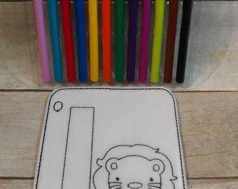 letter l coloring page lion reusable coloring page felt coloring page vinyl coloring