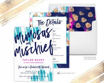 Bachelorette Party Invitations, Bachelorette Invitations, Bachelorette Party, Bachelorette Printable, Hens Party, watercolor, purple, gold