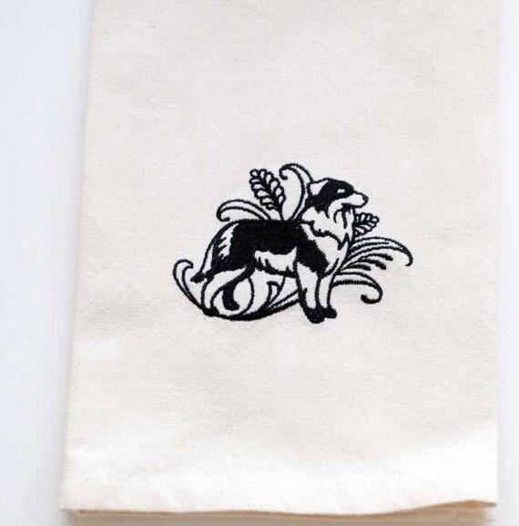 Australian Shepherd Tea Towel Personalized By