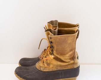 L.L.Bean duck waterproof leather ankle boots Men's size 10.5