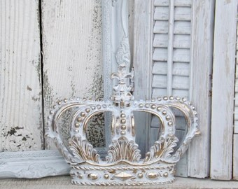 Charmant White And Gold Crown~ Crown Wall Decor~Nursery Wall Decor~Princess Crown~