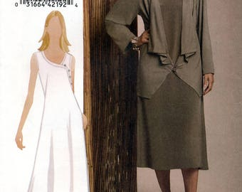 Vogue V8474 Sewing Pattern for Misses' Jacket and Dress - Uncut - Sizes 8, 10, 12, 14
