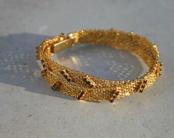 Gold mesh bracelet 1960s