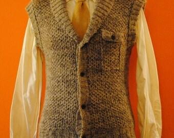 Mohair Shawl Collar Sweater Vest sz M