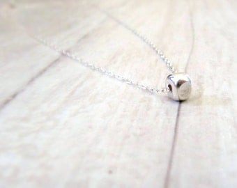 Sterling silver necklace, Delicate silver necklace, Minimalist necklace, Dainty silver necklace, Layered tiny necklace, Trendy necklace