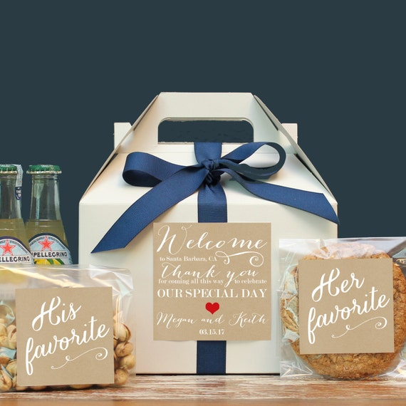 Gift Boxes For Out Of Town Wedding Guests : ... Box / Wedding Welcome Bag / Out of Town Guest Bag / Wedding Favor