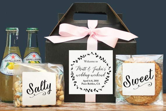 Gift Boxes For Out Of Town Wedding Guests : ... Out of Town Guest Bag / Our of Town Guest Box / Wedding Favor / Laurel
