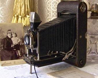 Antique Kodak Autographic Camera NO. 3-A With Original Case Patent Jan 18, 1910