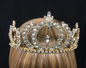 Vintage Olympic Wreath Inspired Rhinestone Tiara