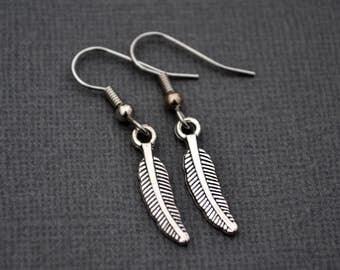 Silver Feathers . Earrings