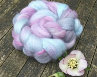 Hand dyed spinning fibre, Bluefaced Leicester, 120g, BFL combed tops